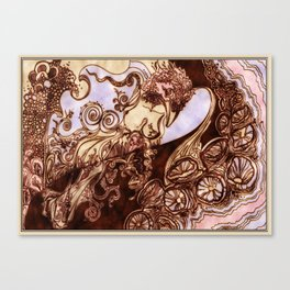 Deep Daze by MaxillaMellifer, aka Rosemary Knowles Canvas Print