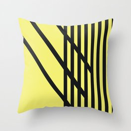 Yellow with Black Criss Cross Stripes CVS0099  Throw Pillow