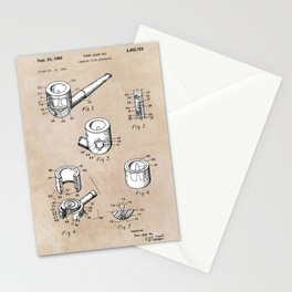 patent art Yow-Jiun Hu Smoking pipe apparatus 1968 Stationery Cards