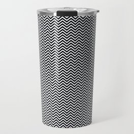 Chevrons #1 Black and White Travel Mug