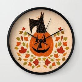 Scottie Pumpking halloween Wall Clock