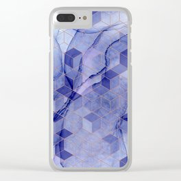 Storm clouds cubed Clear iPhone Case