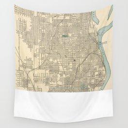 Vintage Map of Omaha Nebraska (1901) Wall Tapestry