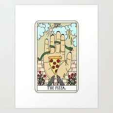 PIZZA READING Art Print