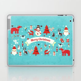 Christmas icons illustration Laptop & iPad Skin