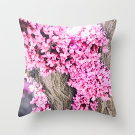 Bark Flowers Throw Pillow
