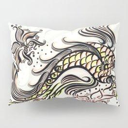 Koi Rain Pillow Sham
