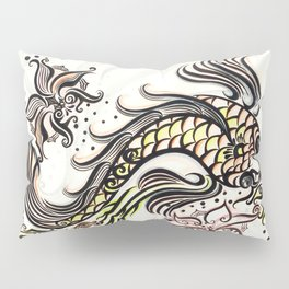 Koi Rain Pillow Sham