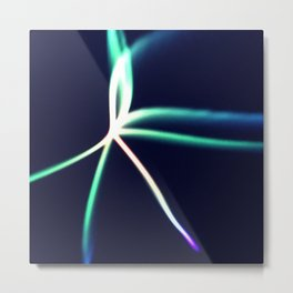 Vibrant Streaks Of Colored Light Abstract Art Metal Print