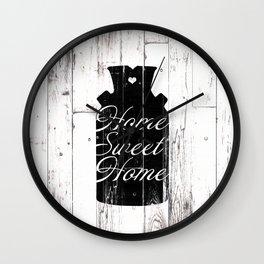 Home Sweet Home Rustic Jug Wall Clock