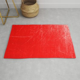 red scratches Rug