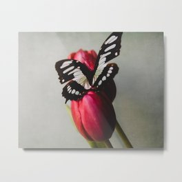 Felicity | Butterfly Floral Art Metal Print