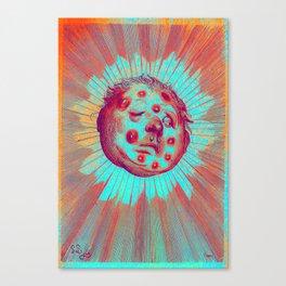 Frostbitten Sun Canvas Print