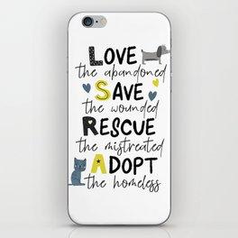 Rescue Animals iPhone Skin