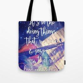 Violin Dream • Find Self Quote • Do What You Love Tote Bag