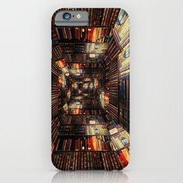 Bookshelf Books Library Bookworm Reading Pattern iPhone Case