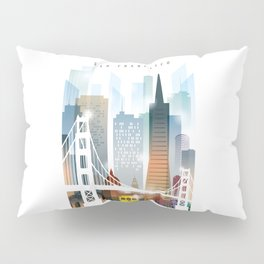 City of San Francisco painting Pillow Sham
