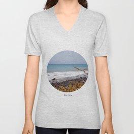 Relax at the oceanside Unisex V-Neck