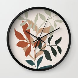 Soft Leaves Wall Clock