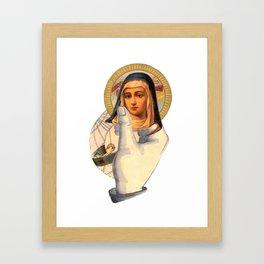 Holding Mary Framed Art Print