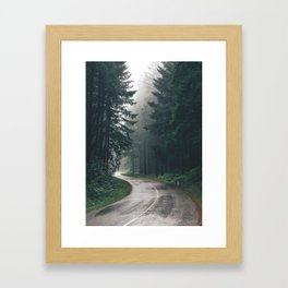 Forest Road Framed Art Print