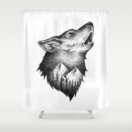 HOWLING Shower Curtain