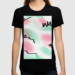 80s pastel leotard T-shirt