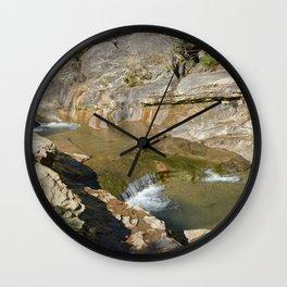 """Bathtub Rocks"" and Weathered Old Barns, No. 1 Wall Clock"