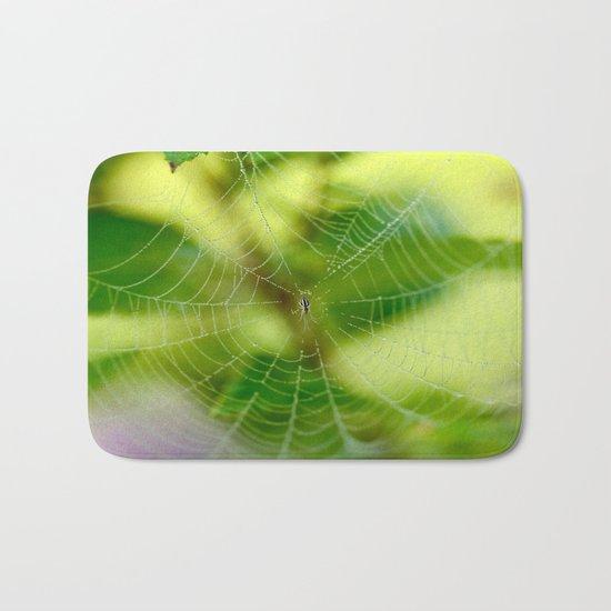 Beautiful Cobweb Bath Mat