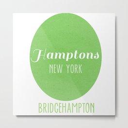 My Towns- Bridgehampton, Hamptons NY Metal Print