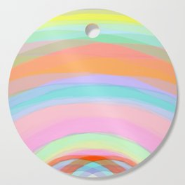 Double Rainbow - Fluor colors - Unicorn dreamers Cutting Board