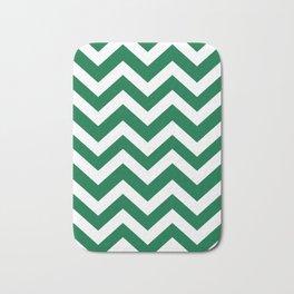 Cadmium green - green color -  Zigzag Chevron Pattern Bath Mat