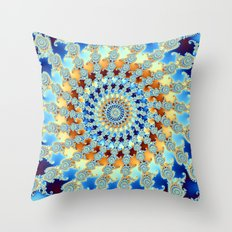 Fractal Turbine Throw Pillow
