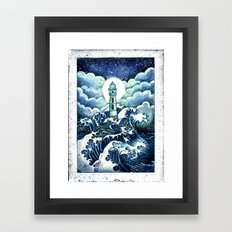 even in the darkest night light will prevail Framed Art Print