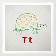 T Turtle Art Print