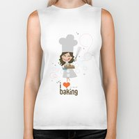 baking Biker Tanks featuring Baking MaMa by inkdesigner