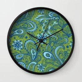 Bright and Fresh Jacobean Wall Clock