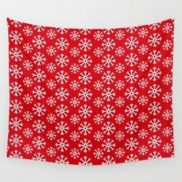 Winter Wonderland Snowflake Christmas Pattern Wall Tapestry