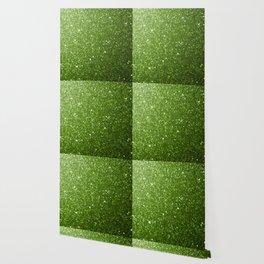 Beautiful light green greenery glitter sparkles Wallpaper