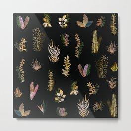 tropical gold garden at nigth Metal Print