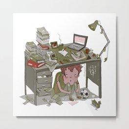 Overloaded Metal Print