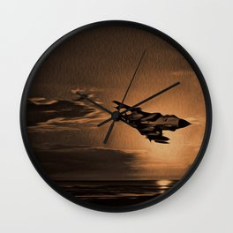 Tornado at Sunset (Digital Painting) Wall Clock