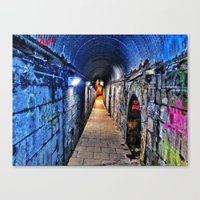 grafitti Canvas Prints featuring Grafitti Tunnel by Raid