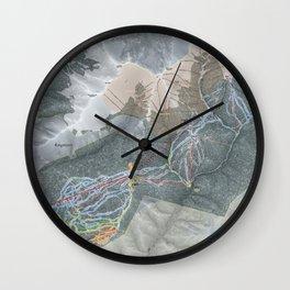 Keystone Trail Map Wall Clock