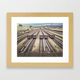 LA Rails Framed Art Print