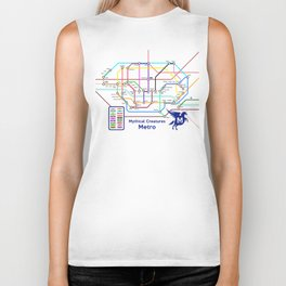 Mythical Creatures Subway Map Biker Tank
