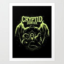 Cryptid Hunter Art Print