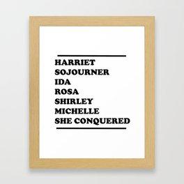 honoring black women Framed Art Print