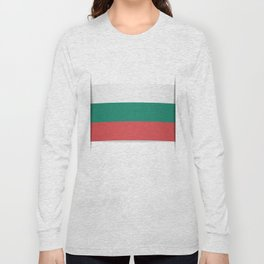 Flag of Bulgaria. The slit in the paper with shadows. Long Sleeve T-shirt