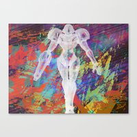 metroid Canvas Prints featuring Metroid by Bradley Bailey